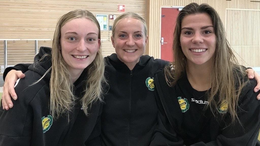 Ida Lagerbon, Trine Mortensen och Laura Jensen