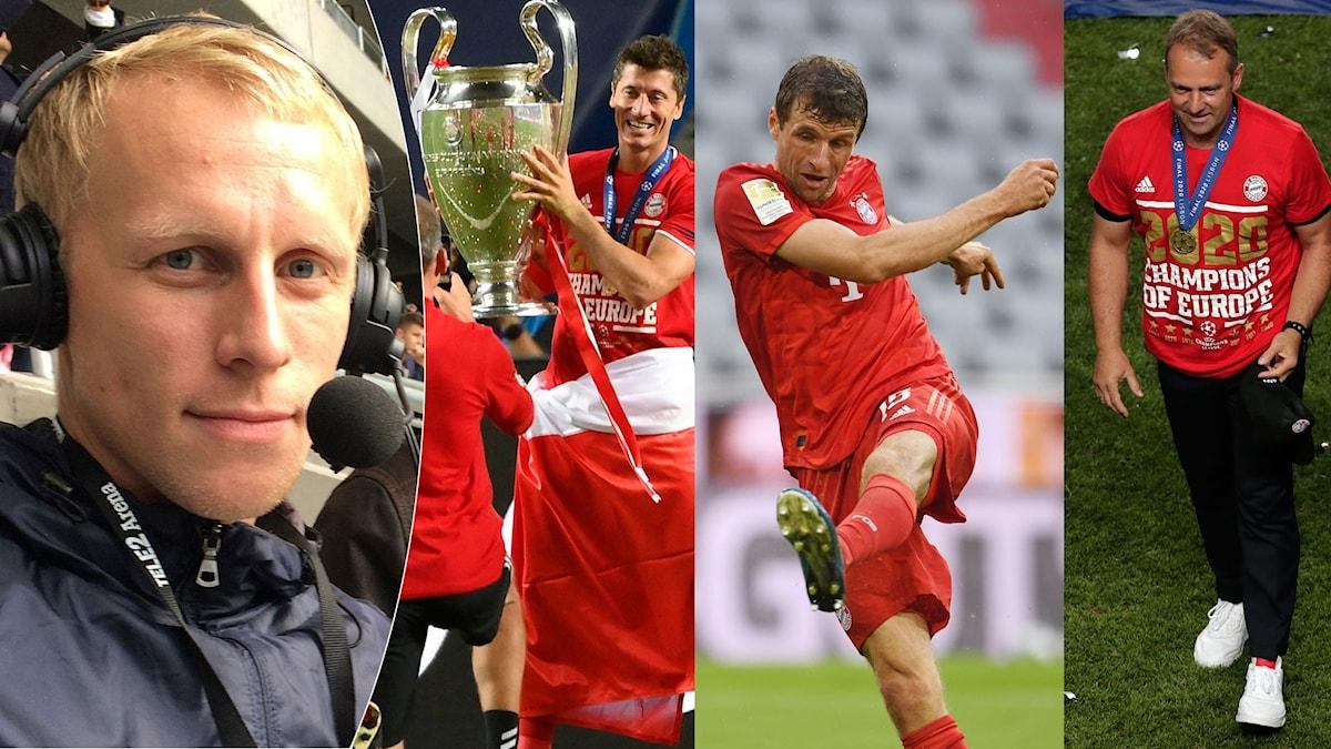 Bayern München-collage. Foto: TT, collage SR.
