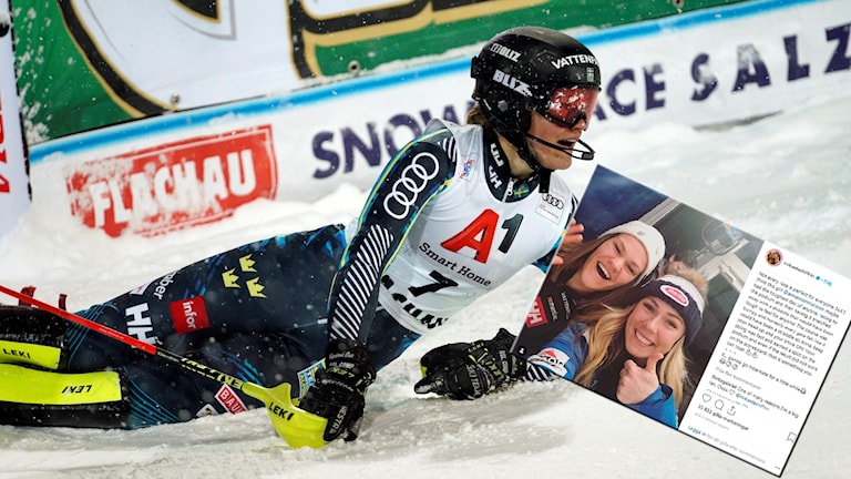 Anna Swenn-Larsson diskades i går, men nu stöttas hon av Mikaela Shiffrin.