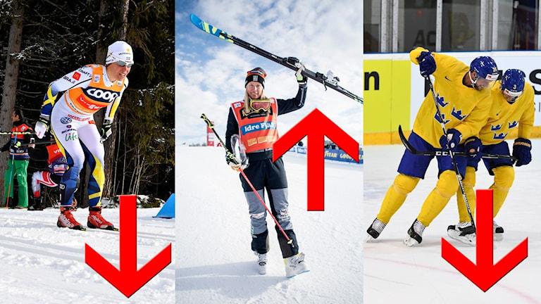Charlotte Kalla, Sandra Näslund och Tre Kronor finns med på listan.