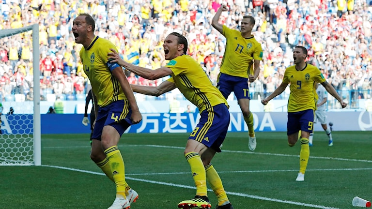 Andreas Granqvist målskytt mot Sydkorea.