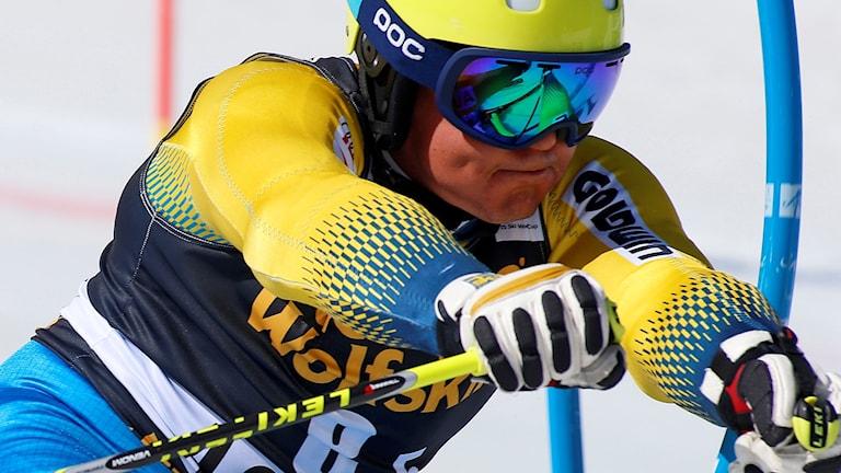 Mattias Hargin i sitt segeråk.