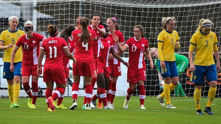 Kanada vann mot Sverige i Trelleborg.
