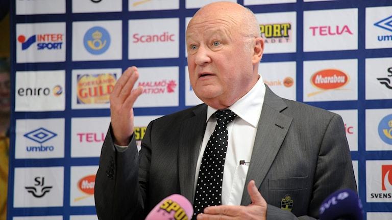 Lars-Åke Lagrell, före detta ordförande i Svenska fotbollförbundet.