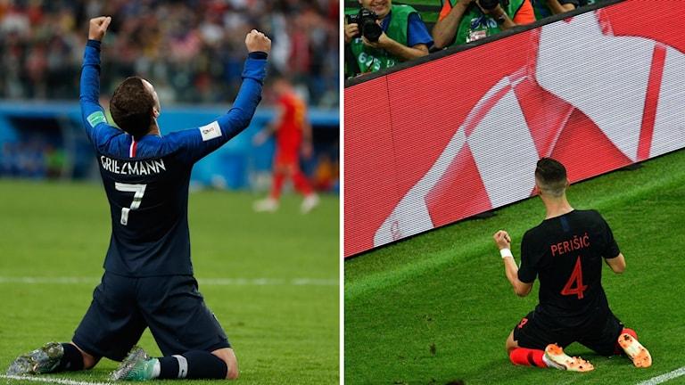 Frankrike möter Kroatien i VM-finalen.
