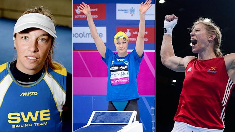 Josefin Olsson, Sarah Sjöström och Anna Laurell Nash är tre svenska medaljhopp.