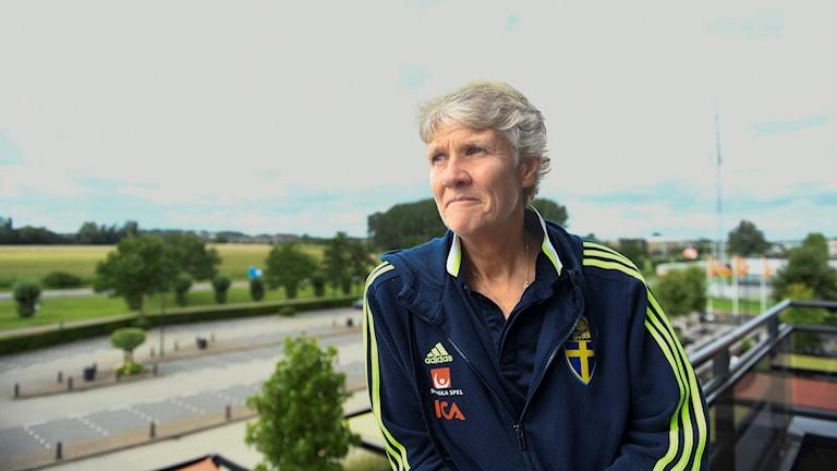 Pia Sundhage tillträdde som svensk förbundskapten 2012.