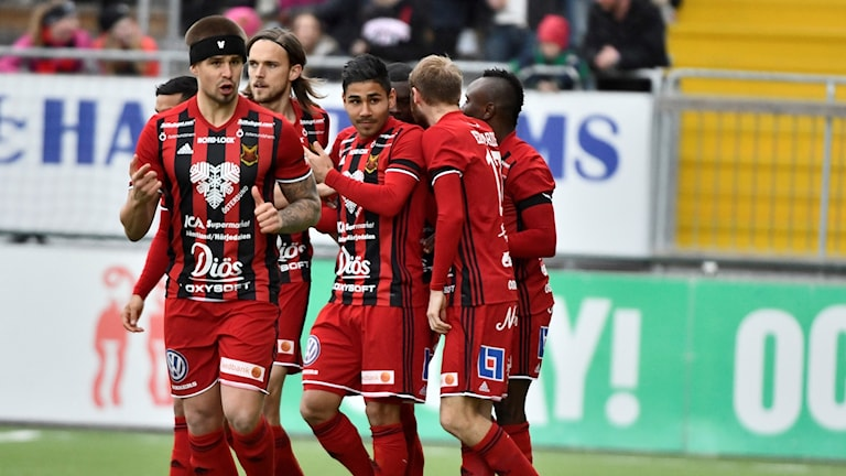 Östersund firar mot IFK Norrköping.