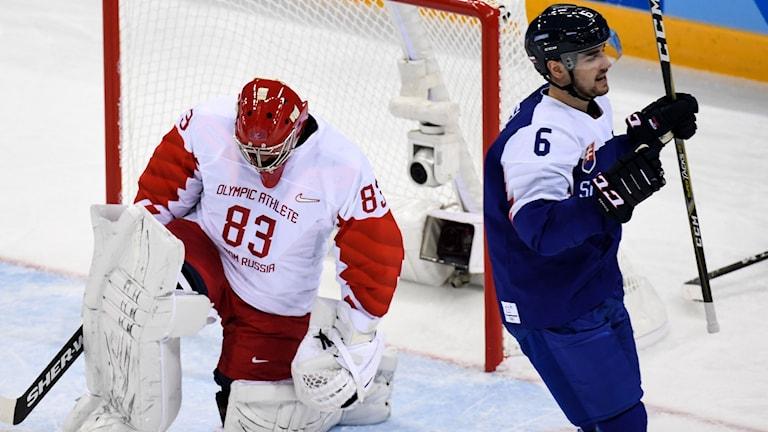 Slovakien besegrade mycket överraskande OAR i den första gruppspelsmatchen.