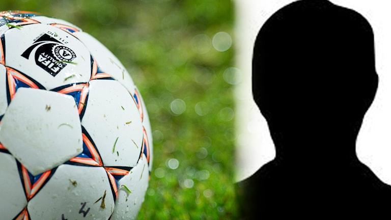 fotboll, siluett