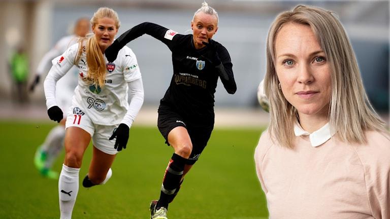 Johanna Frisk ser både för- och nackdelar med fler lag i damallsvenskan.