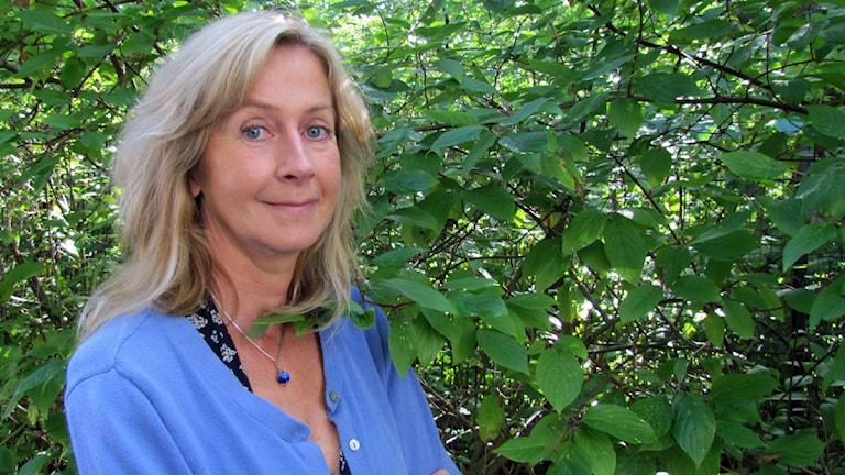 Sanna Martin, trafikreporter och sändningsledare. Foto: Jonas Carnesten/Sveriges Radio