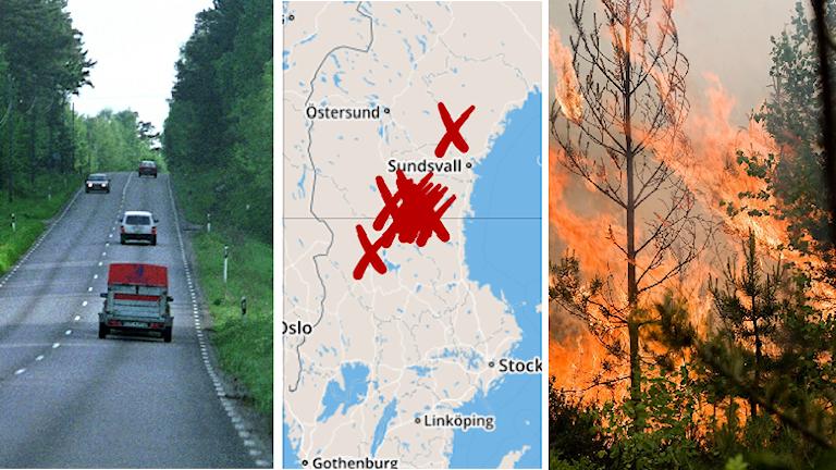 Trafik skogsbrand