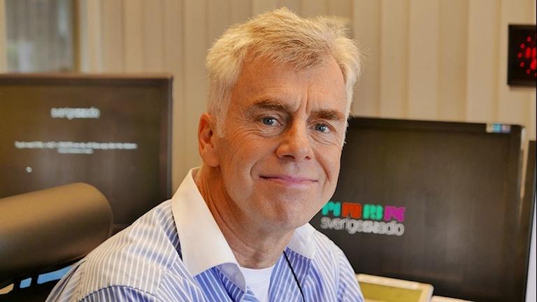 Åke Brulin, arbetsledare för trafikredaktionen. Foto: Lars-Åke Gustavsson/Sveriges Radio