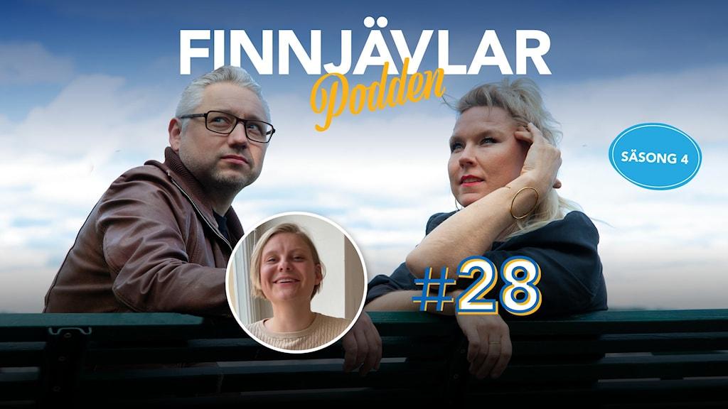 Kristian Borg och Victoria Rixer sitter på en bänk och tittar in i kameran. Infälld i en liten bild syns Natte Hillerberg.