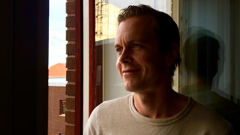 Jens Portin Gävlen studiossa.