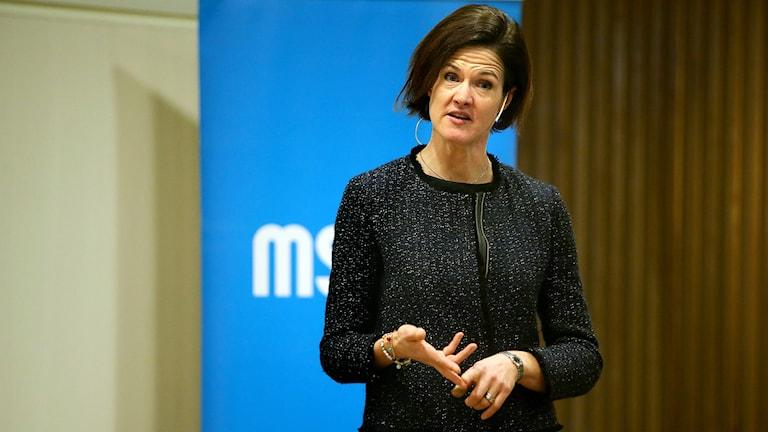 آنا شينبرى باترا زعيمة حزب المحافظين