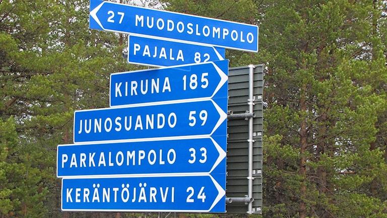 Ruotsin pohjoisimmassa läänissä Norrbottenissa etäisyydet ovat pitkiä.