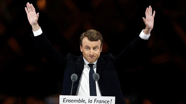 Kuvassa Ranskan uusi presidentti Emmanuel Macron. Foto: Thibault Camus