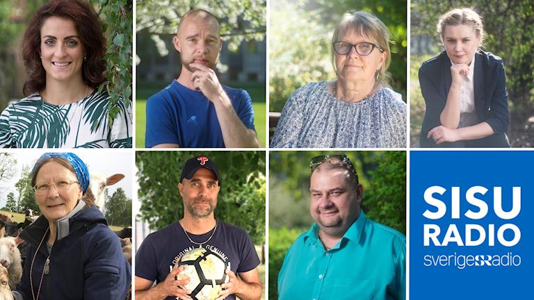 Sisuradios sommargäster 2018: Mirjaliisa Lukkarinen Kvist, Natalie Minnevik, Outi Niskala, Kristian Niemi, Anki Eriander, Marko Tuhkanen