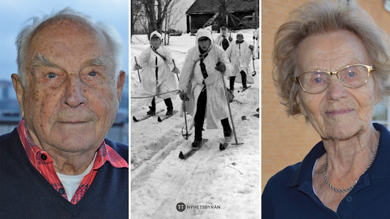 Kurt Antskog, en finsk skidgrupp i Vinterkriget och Raili Eyrich.