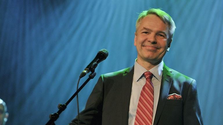 På bilden De grönas kandidat Pekka Haavisto. Foto: Jussi Nukari/Lehtikuva