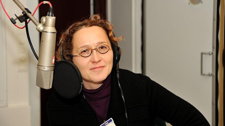 Mediatutkija Anu Koivunen. Foto: Tomi Lehikoinen/Sveriges Radio