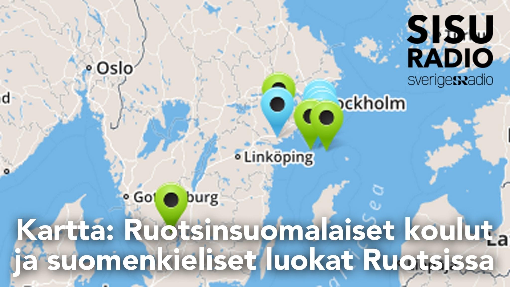 Kartta Ruotsinsuomalaiset Koulut Ja Suomenkieliset Luokat