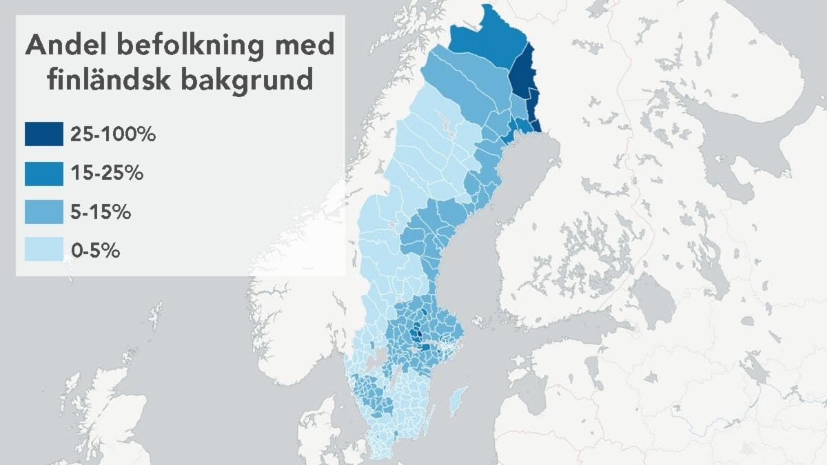 Kartan: Så här många med finländsk bakgrund bor i din kommun - Sveriges  Radio Finska | Sveriges Radio