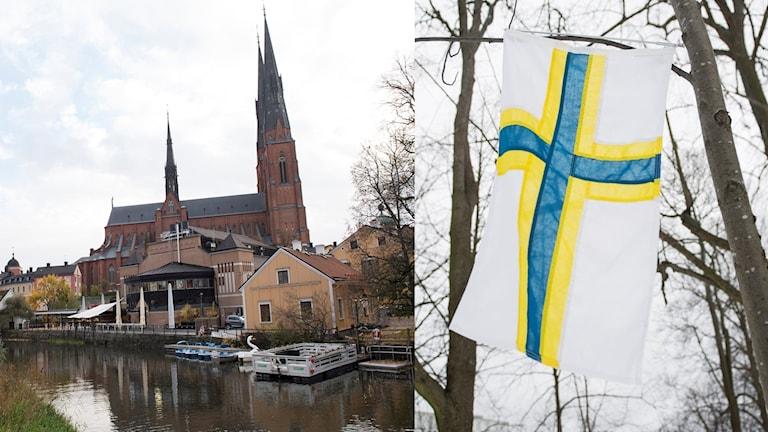 Uppsalan kirkko ja ruosulippu