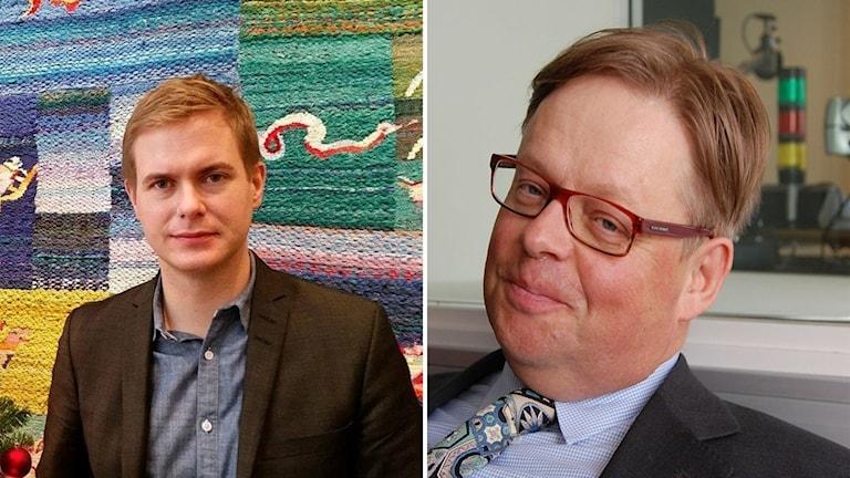 Kuvassa vastemmalla koulutusministeri Gustav Fridolin ja oikealla kansanedustaja Juhana Vartiainen.