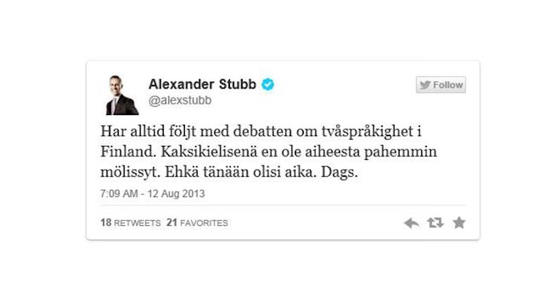 Stubb #pakkoruotsista.