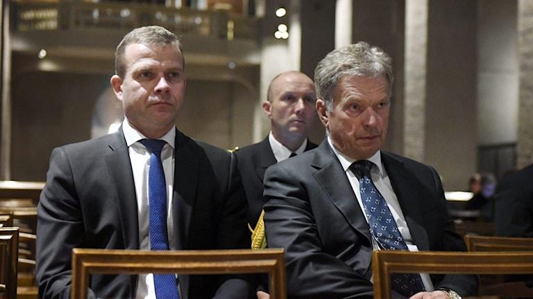 Kuvassa Suomen puolustusministeri Petteri Orpo ja presidentti Sauli Niinistö