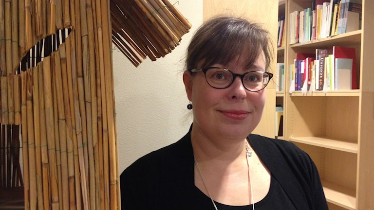 Kielineuvoston kielenhuoltaja Riina Heikkilä, Språkrådet. FOTO: Marjaana Kytö, Sveriges Radio Sisuradio