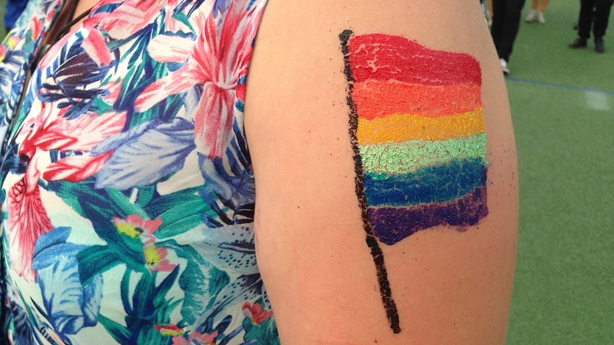Pride flagga