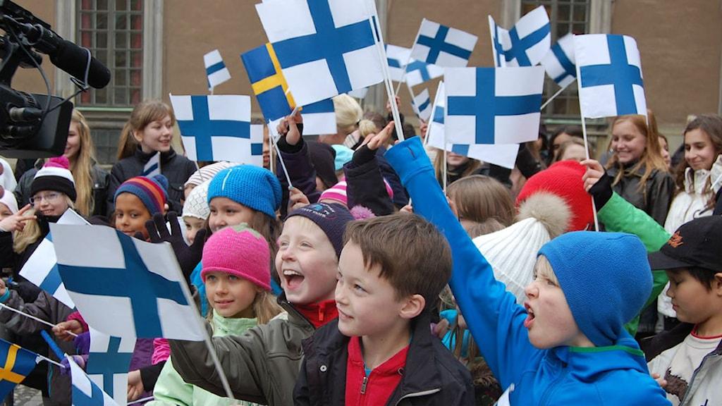 Tukholman Ruotsinsuomalaisen koulun oppilaita. Kuva/Foto: Annika Lantto/Sveriges Radio Sisuradio