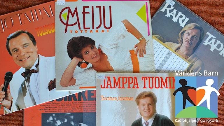 1980-luvun suomalaisia iskelmälevyjen kansia