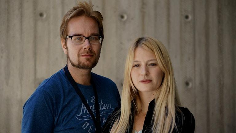 Erkki Kuronen, Maija Waris. Foto: Lotta Hoppu / Sveriges Radio Sisuradio