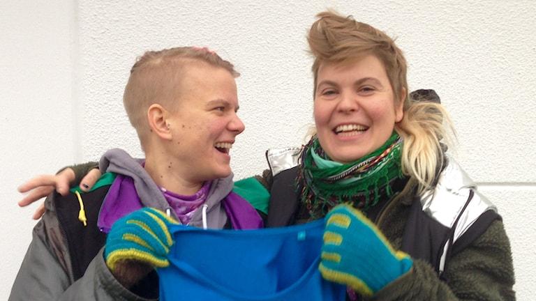 Laura Savolainen ja Salli Honkanen, Team Sweden.Kuva: Johanna Dikert