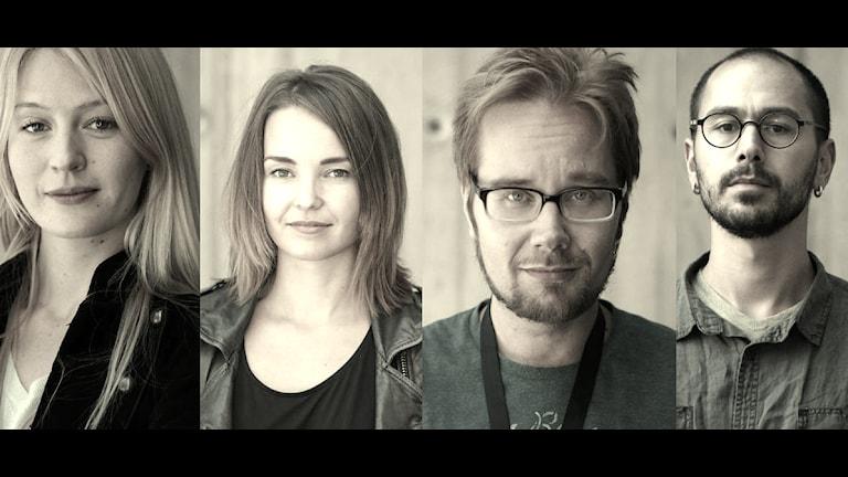 Maija, Helena, Erkki och Mazi. Popula. Foto: Lotta Hoppu