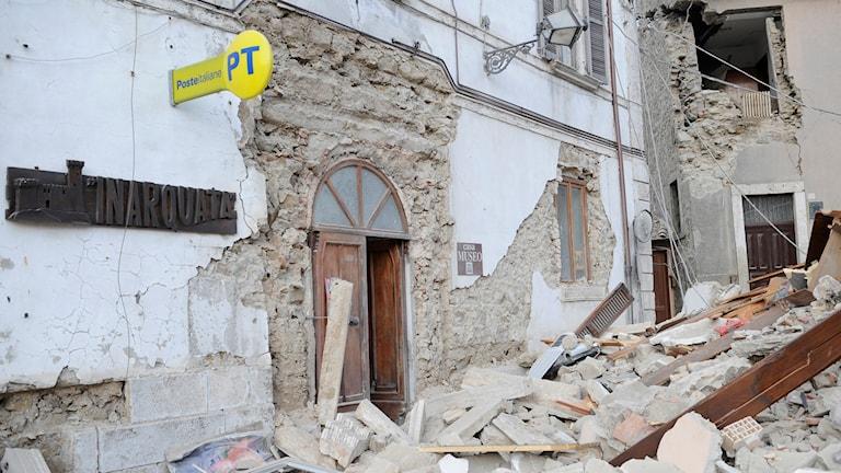 Italian maanjäristyksen tuhoja 24.8.2016.
