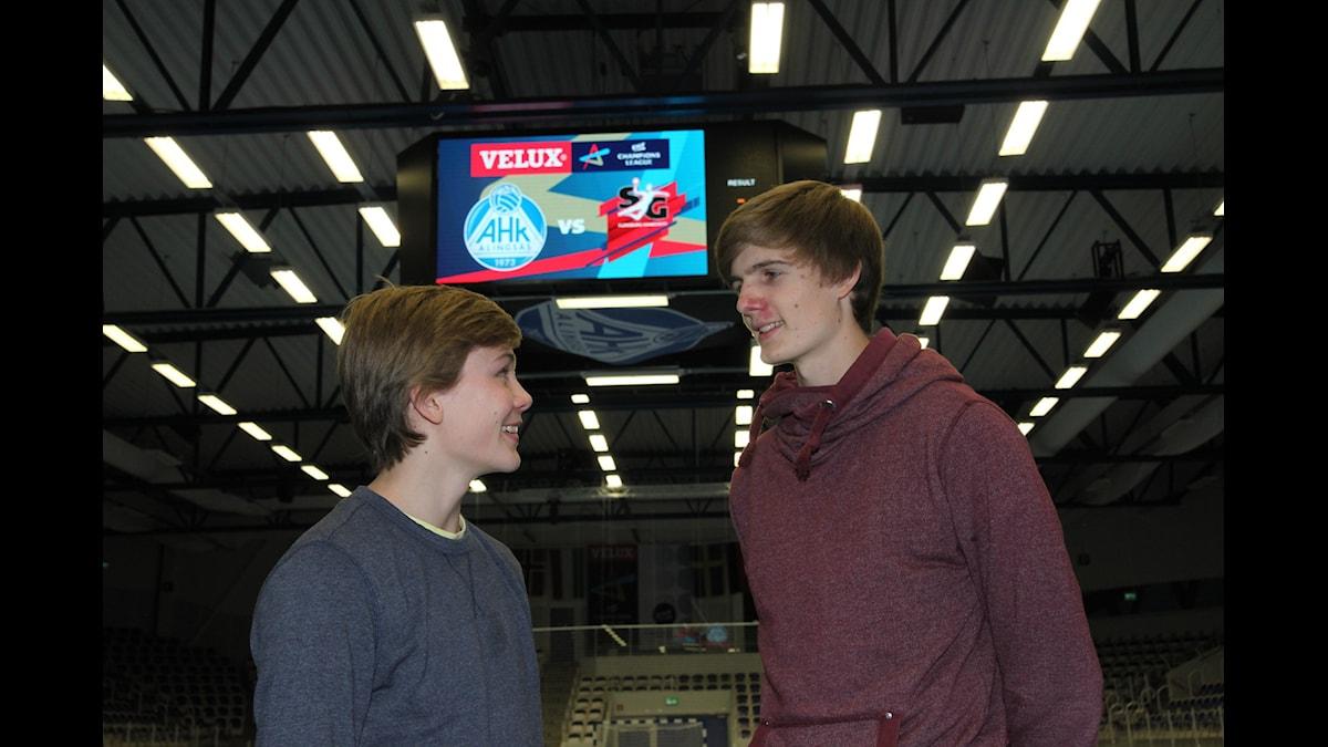 Benjamin ja Oliver Helander  Foto:Jukka Tuominen