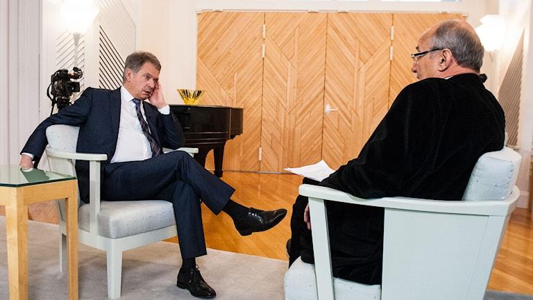 Presidentti Sauli Niinistö ja Kari Lumikero. Kuva/Foto: Jan Blomberg