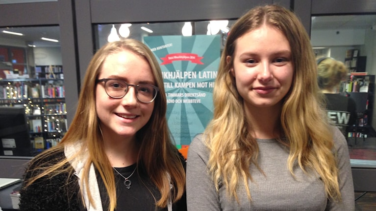Malmö Latinskolan medialinjan oppilaat Malva Kauranen ja Amanda Olivius ovat suunnitelleet torstain Musikhjälpen lähetystä monta viikkoa.