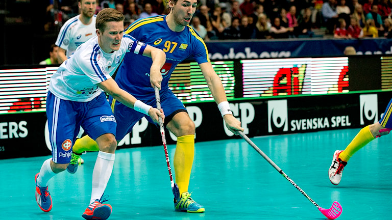 Suomi Ruotsi MM-salibandy Foto: Björn Larsson Roswall