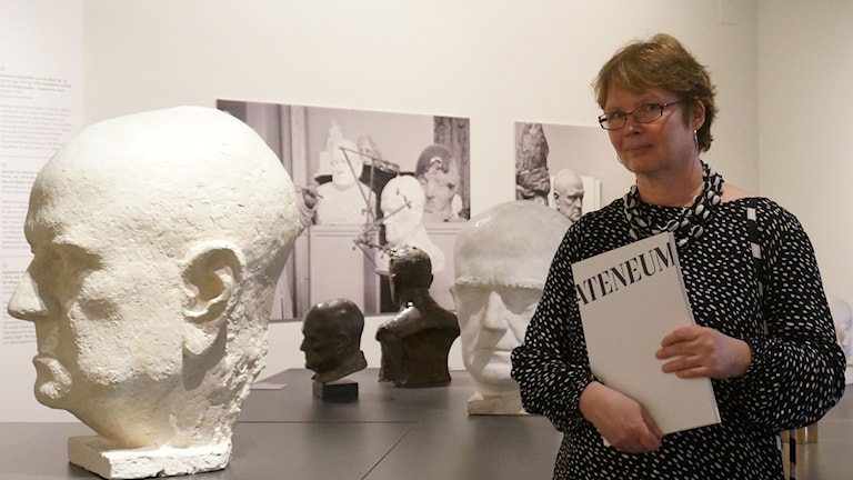 Riitta Ojanperä ja monta Sibeliusta foto: Kirsi Blomberg Sveriges Radio