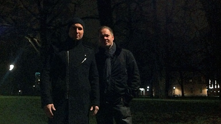 Markus Fagervall ja Tony Björkenvall. Kuva/Foto: Anna Tainio, SR Sisuradio