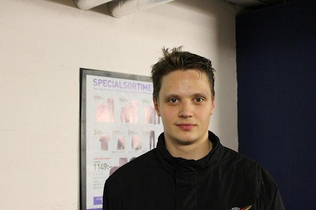 Kristian Näkyvä, Luleå HF. Kuva Pekka Ranta, Sveriges Radio.