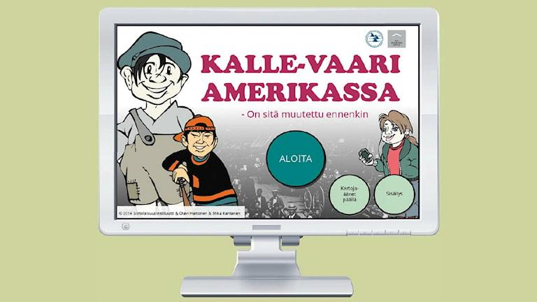Nettipeli Kalle-vaari Amerikassa