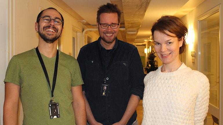 Anna Järvinen, Mazi ja Erkki. Foto: Helena Huhta